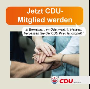 Jetzt CDU-Mitglied werden !